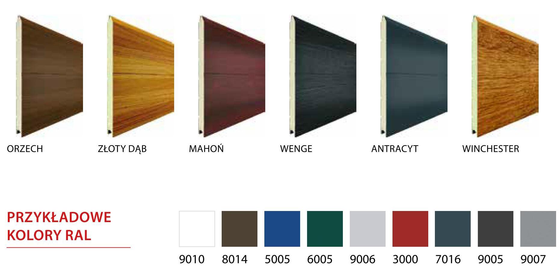 przykładowe kolory ral